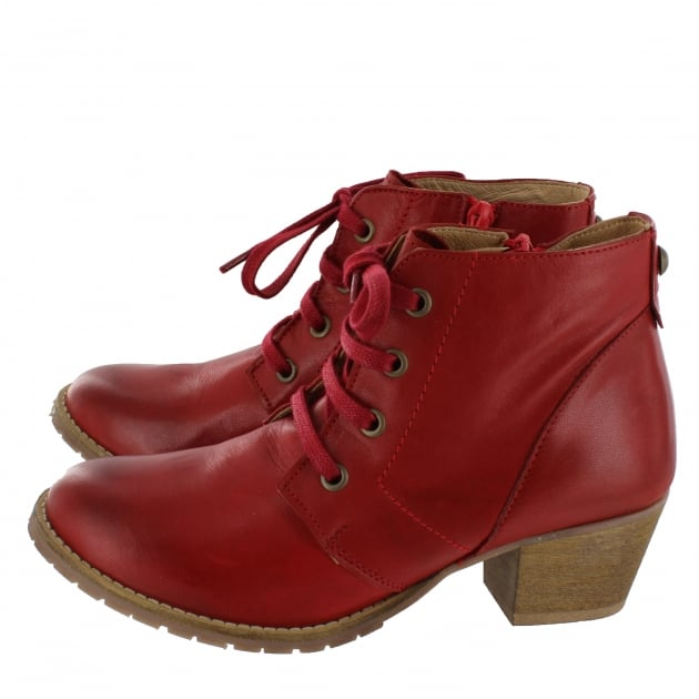 Marta Jonsson Womens Ankle Boots 6533L Red Boots