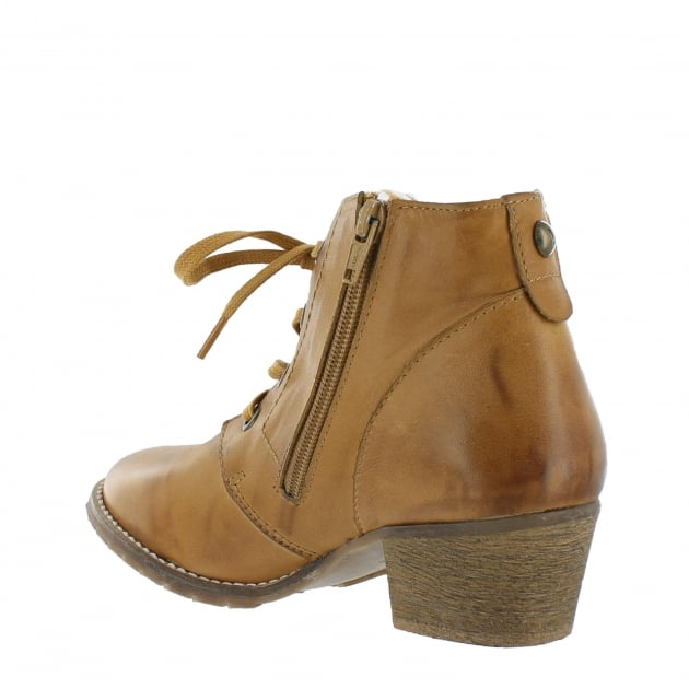 Womens Ankle Boots 6533L Tan