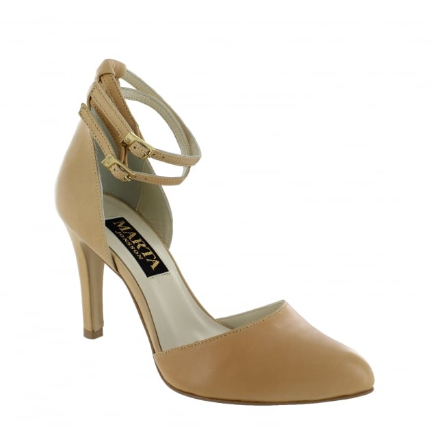 Marta Jonsson Womens Ankle Strap Court Shoes 1515L Nude