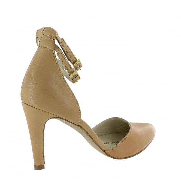 Marta Jonsson Womens Ankle Strap Court Shoes 1515L Nude Shoes