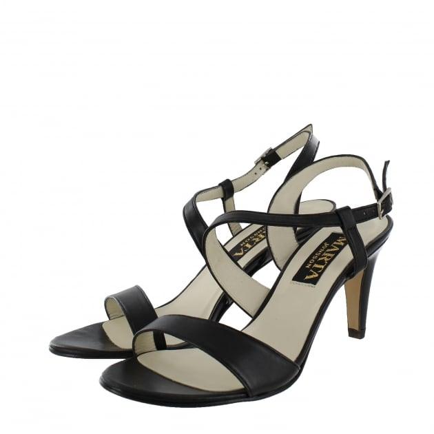 Marta Jonsson Womens Asymetric Sandal 1508L Black Sandals