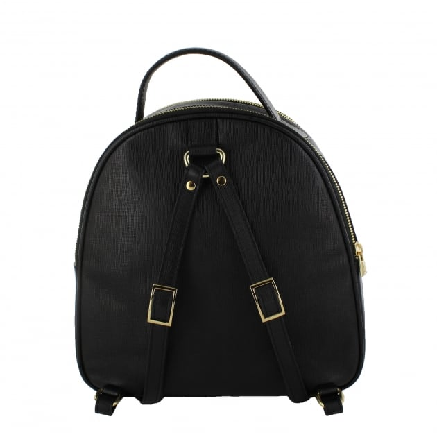 Marta Jonsson Womens Backpack With Mj Detail Black Bag8526