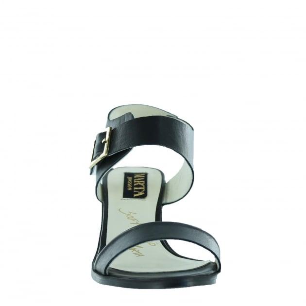 Marta Jonsson Womens Block Heel Sandal 4537L Black Sandals