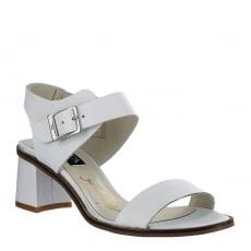 Marta Jonsson Womens Block Heel Sandal 4537L White