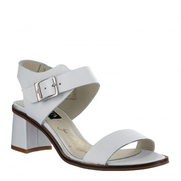 Marta Jonsson Womens Block Heel Sandal 4537L White Sandals