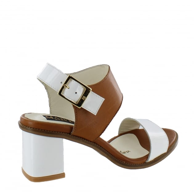 Marta Jonsson Womens Block Heel Sandal 4867L Tan Sandals
