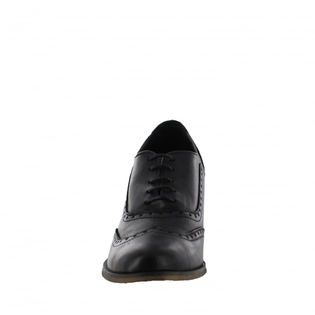 Marta Jonsson Womens Block Heeled Brogue 13035L Black