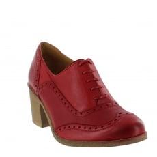 Marta Jonsson Womens Block Heeled Brogue 13035L Red Shoes