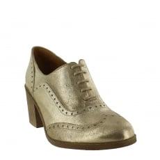 Marta Jonsson Womens Block Heeled Brogue 13035S Gold Shoes