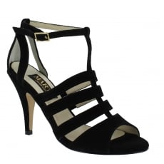 Marta Jonsson Womens Cage Sandal 1512S Black Sandals