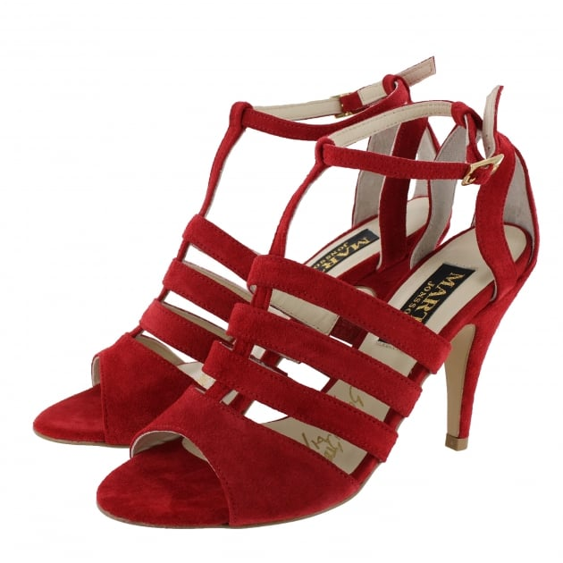 Marta Jonsson Womens Cage Sandal 1512S Red Sandals