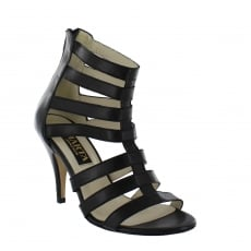 Marta Jonsson Womens Caged High Sandal 1503L Black