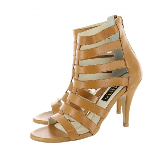 Marta Jonsson Womens Caged High Sandal 1503L Tan
