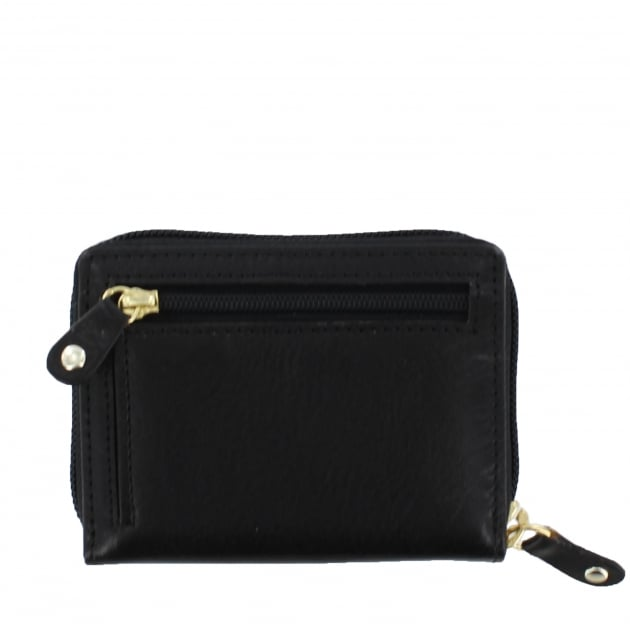 Womens Card Holder Wallet Black W3888