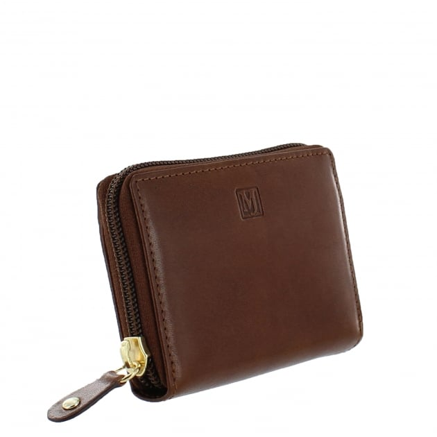 Womens Card Holder Wallet W3888 Cognac