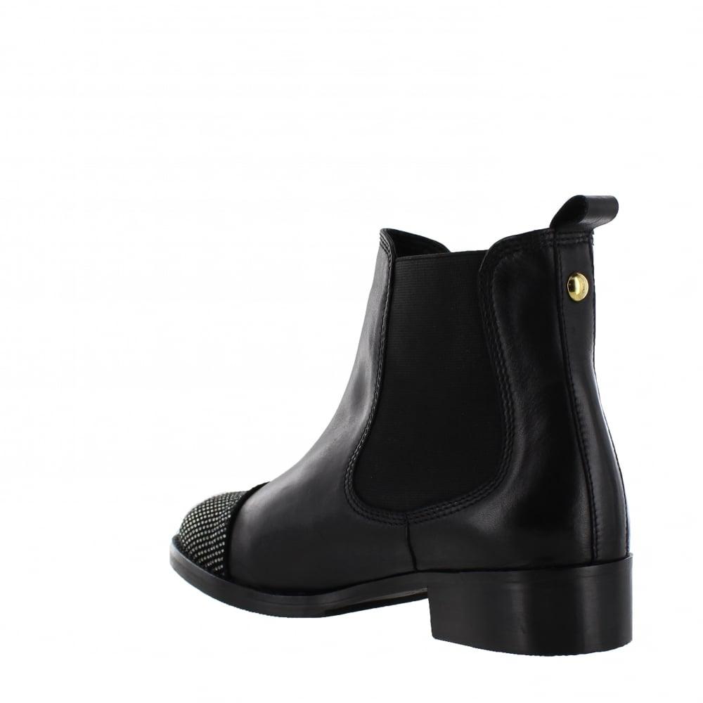 marta jonsson womens chelsea ankle boot 5027 s black