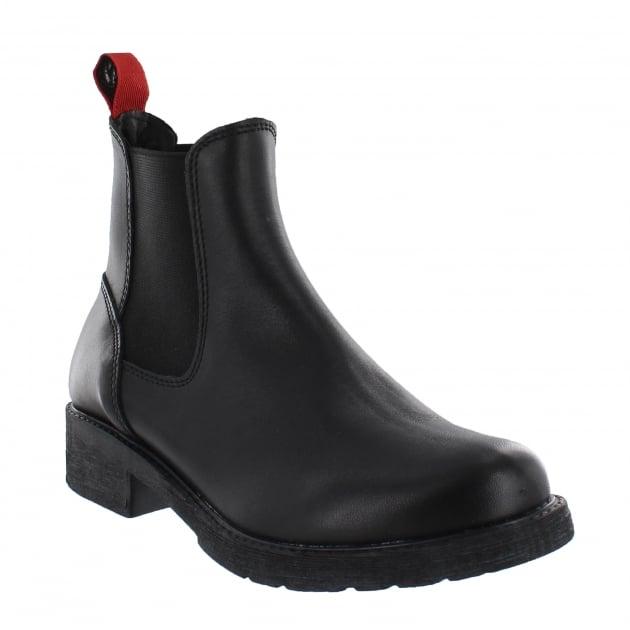 Marta Jonsson Womens Chelsea Ankle Boots 12472L Black Boots