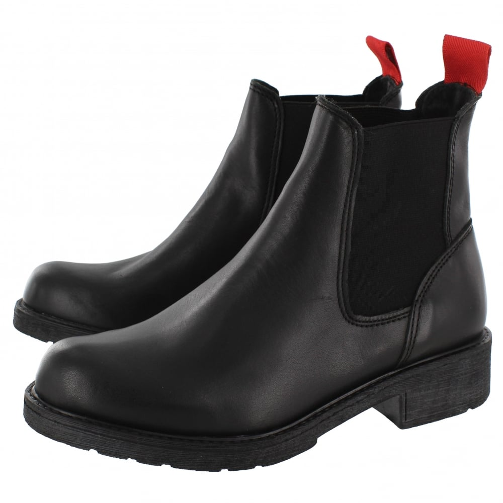 Model Barbour Womenu0026#39;s Caveson Leather Chelsea Boots - Black | FREE UK Delivery | Allsole