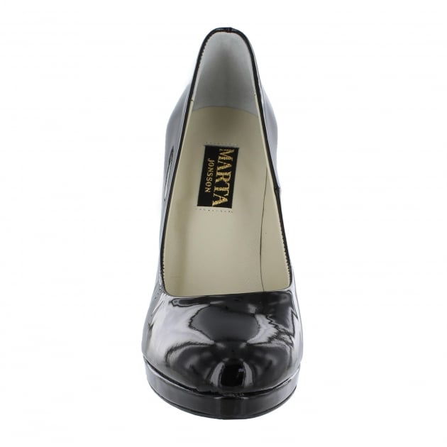 Marta Jonsson Womens Court Shoe 2103P Black Shoes