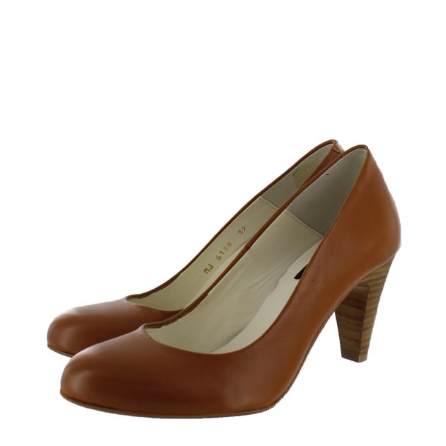 Marta Jonsson Womens Court Shoe 6118L Tan Shoes