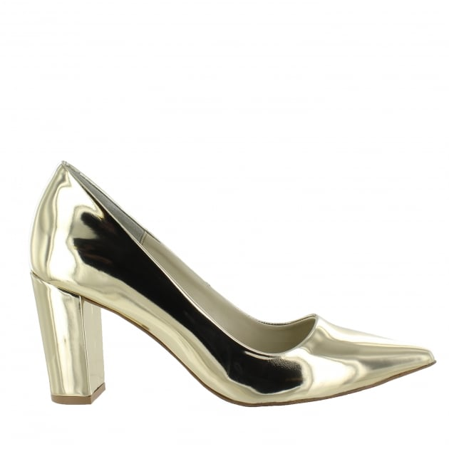 Womens Court Shoes Gold 16121