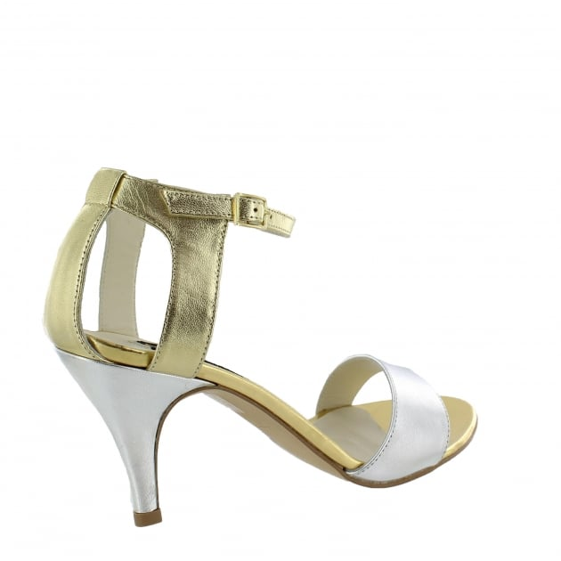 Marta Jonsson Womens Cut Out Back Sandal 7829L Gold