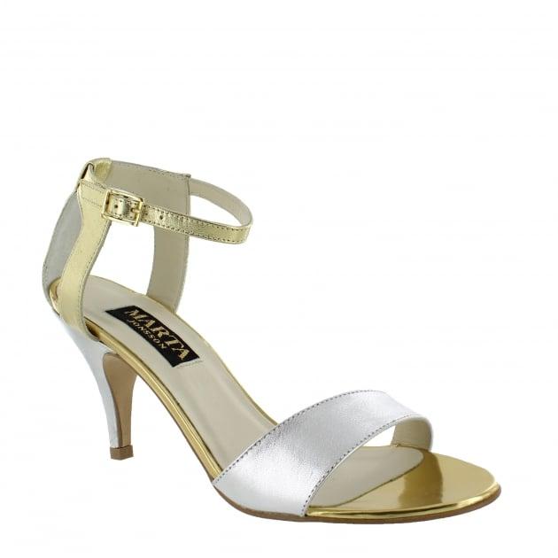 Marta Jonsson Womens Cut Out Back Sandal 7829L Gold Sandals