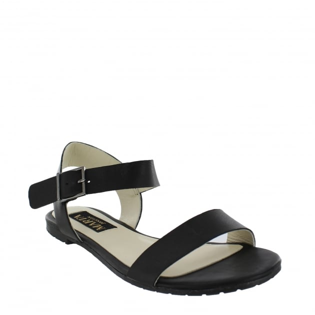 Marta Jonsson Womens Flat Sandals 6622L Black Sandals