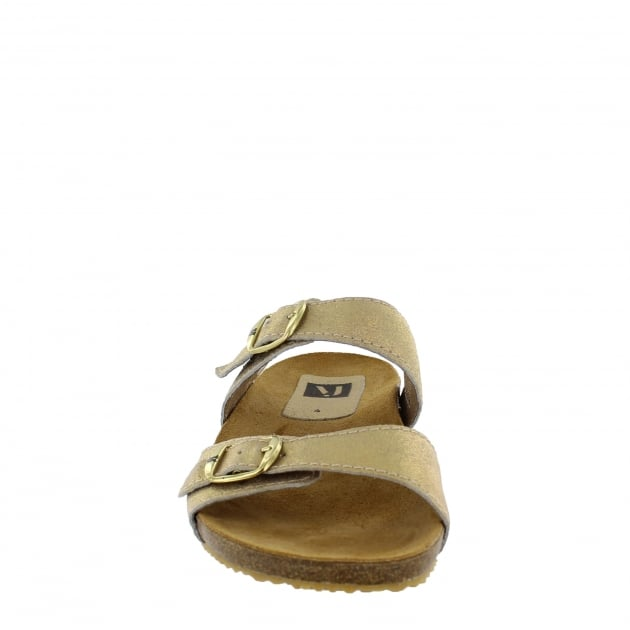 Marta Jonsson Womens Footbed Sandal 1010S Gold