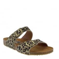 Marta Jonsson Womens Footbed Sandal 1010S Leopard
