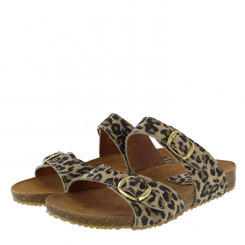 42ead8d4983 Marta Jonsson Womens Footbed Sandal 1010L Women s Leopard Sandals ...