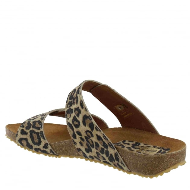 Womens Footbed Sandal 1010S Leopard