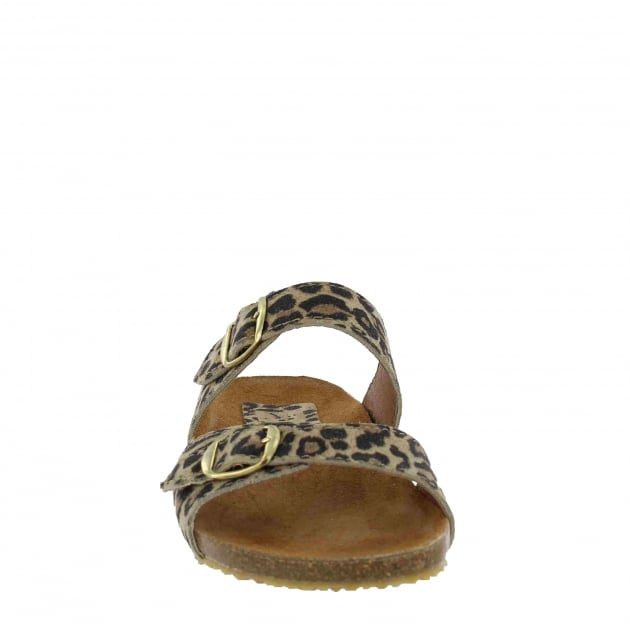 Marta Jonsson Womens Footbed Sandal 1010S Leopard Sandals