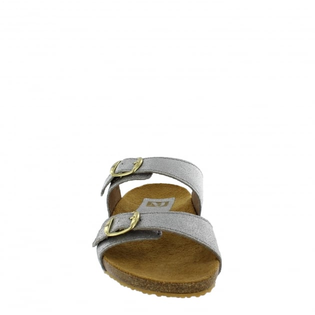 Womens Footbed Sandal 1010S Silver