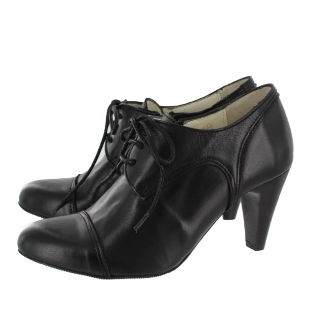 Marta Jonsson Womens High Heeled Lace Up Shoe 4740L Black