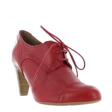 Marta Jonsson Womens High Heeled Lace Up Shoe 4740L Red