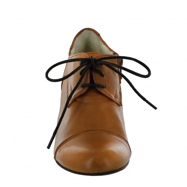 Marta Jonsson Womens High Heeled Lace Up Shoe 4740L Tan Shoes