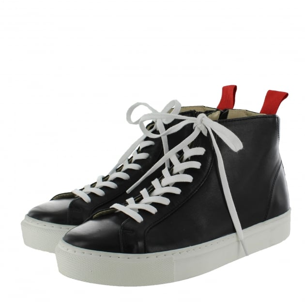 Marta Jonsson Womens High-Top Trainers 4087L Black Shoes