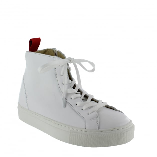 Marta Jonsson Womens High-Top Trainers 4087L White Shoes