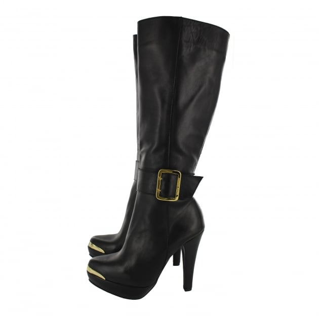 Womens Knee High Boot 4848L Black