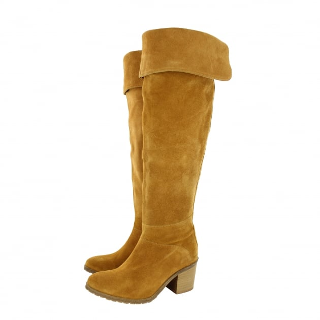 Womens Knee High Boots 4891S Tan