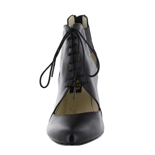 Womens Lace Up Shoes 1611 Black