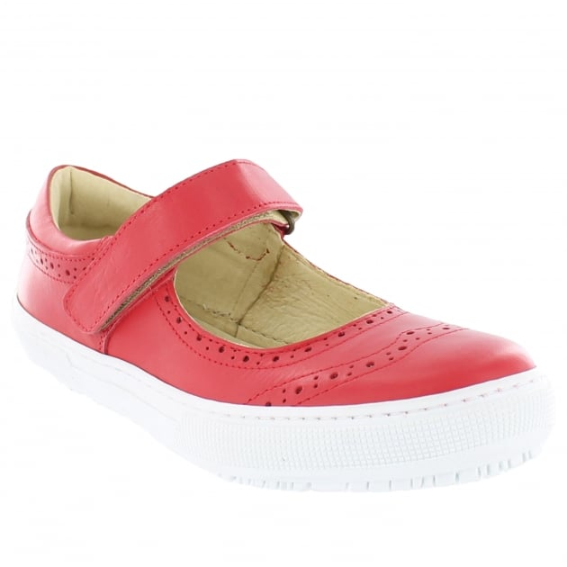 Marta Jonsson Womens Leather Sneaker 5292L Red