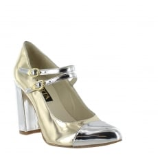 Marta Jonsson Womens Mary Jane Gold Shoes 1616