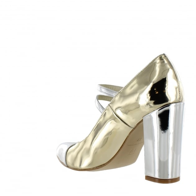 Marta Jonsson Womens Mary Jane Gold Shoes 1616
