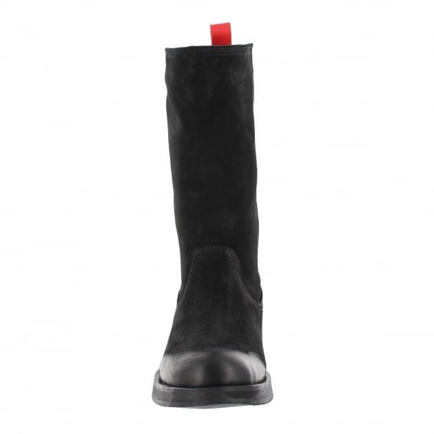 Marta Jonsson Womens Mid Calf Boots 4128L Black