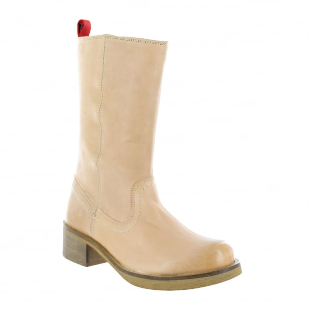 Womens Mid Calf Boots 4128L Tan