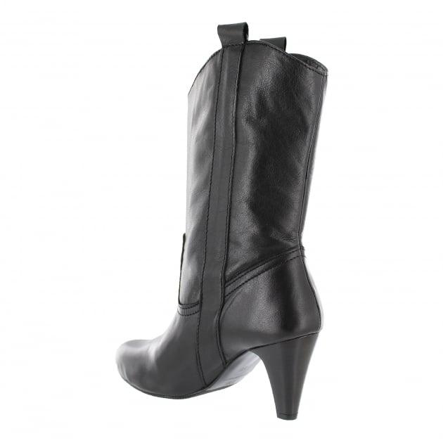 Womens Mid Calf Boots 6684L Black