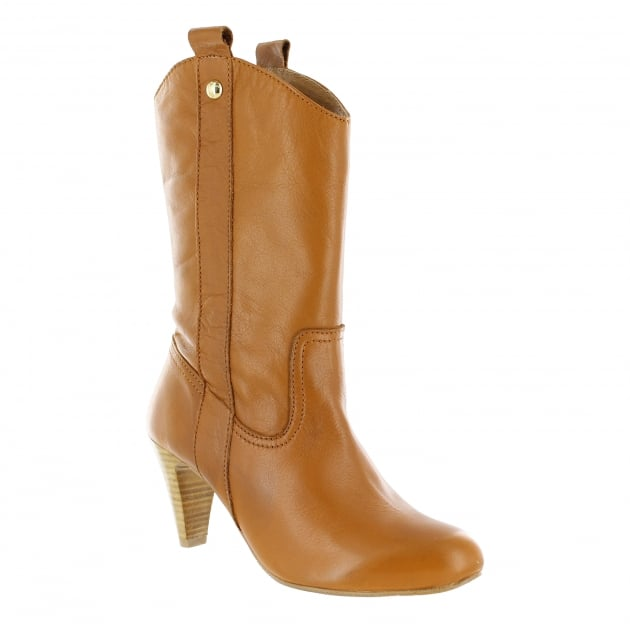Marta Jonsson Womens Mid Calf Boots 6684L Tan Boots
