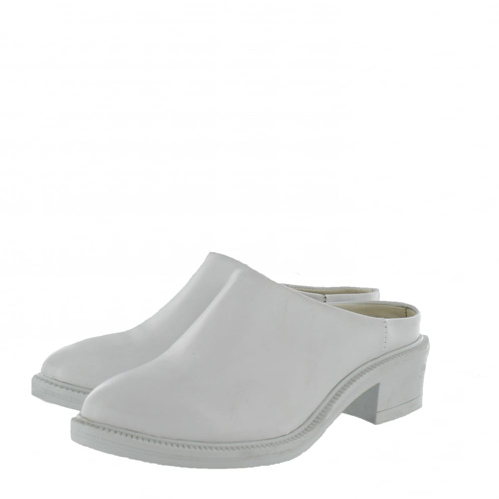 Marta Jonsson Womens Mule Shoe 4852L Womenu0026#39;s White Shoes - Free Returns At Shoes.co.uk